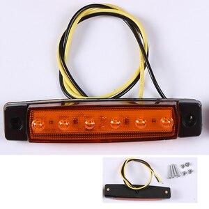 Image 2 - 10 PCS AOHEWEI amber 24 V LED side marker ตำแหน่งแสงไฟ led รถพ่วงไฟท้าย marker reflector รถบรรทุก
