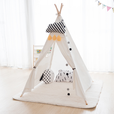Swell Danchel Child Cotton Canvas India Tents House For Kids For Baby 1 1X1 3X1 4 And 1 2X1 4X1 6 White Blue Pink Tent For Choice In Tents From Sports Caraccident5 Cool Chair Designs And Ideas Caraccident5Info