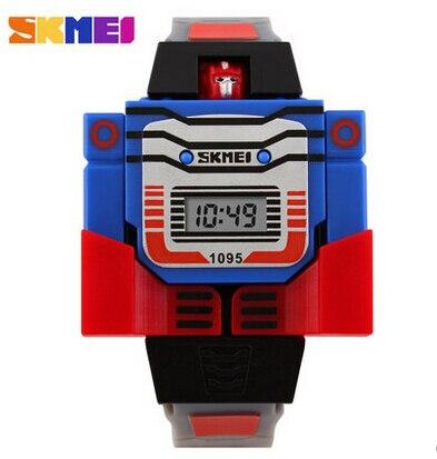 Скидка SKMEI мальчик творческий электронный дети моды личности мультфильм наручные часы Водонепроницаемые Девушки Детей Подарки унисекс