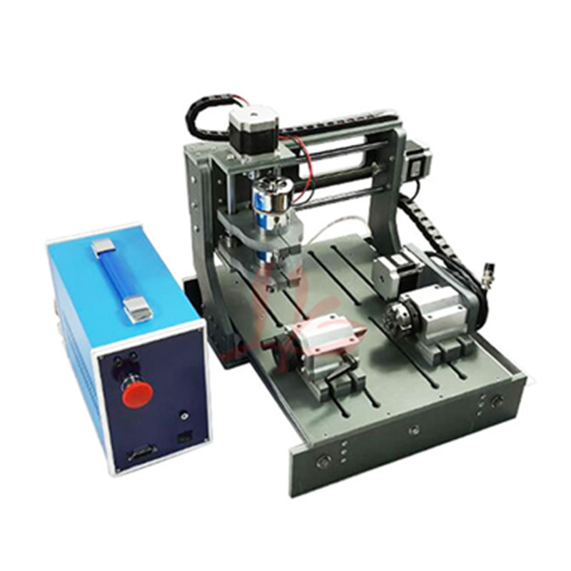 CNC Router Machine 2030 Parallel Port 4 Axis Mini Wood Lathe Drilling And Milling Machine