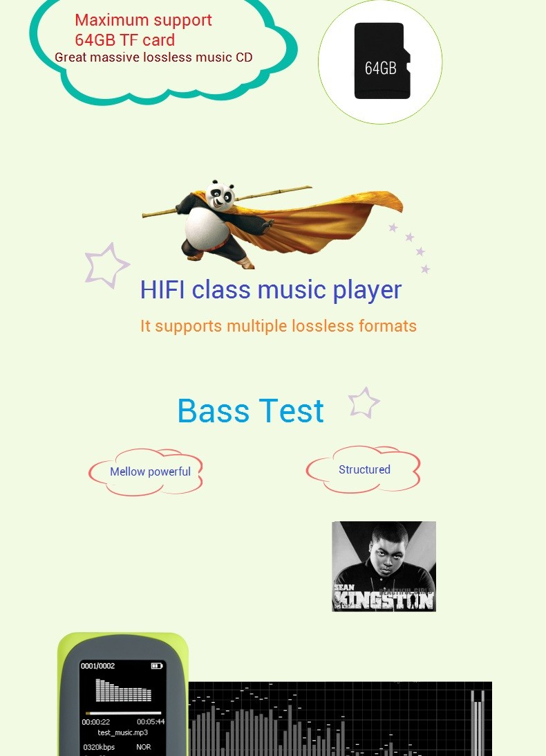 """Idealist Sport HIFI Running MP3 Player 1.8"""" Lossless MP4 Player Support Picture Recording Video TF With Earphone Armband Speaker 11"""