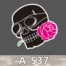 Bevle A-537 Schädel Rose Wasserdichte Kühle DIY Aufkleber Für Laptop Gepäck Bike Refit Skateboard Auto Graffiti Cartoon Aufkleber