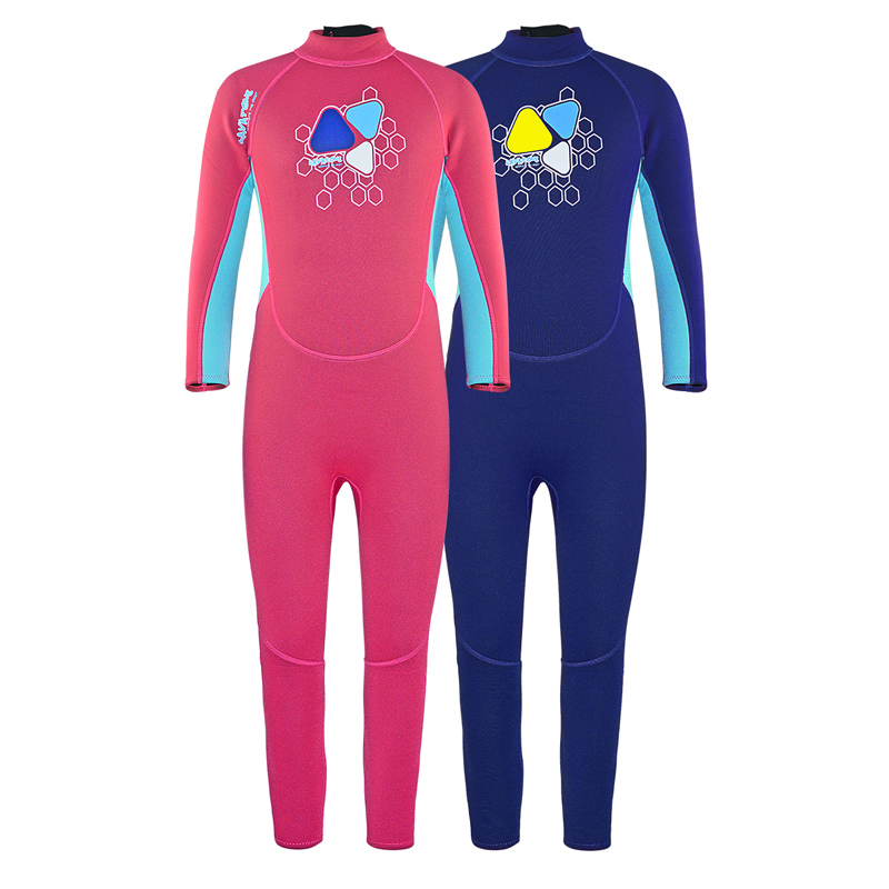 Wetsuit Girl Boy 2mm Neoprene Diving Suit Full Body Swimsuit Thermal UV One Piece Swimsuit for Kids Child Surfing Suit A1619 цена