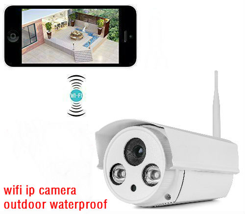 ФОТО 720P HD WiFi Wireless Bullet IP Camera 1.0 Megapixel Outdoor Wireless Security Camera Plug & Play & Nightvision