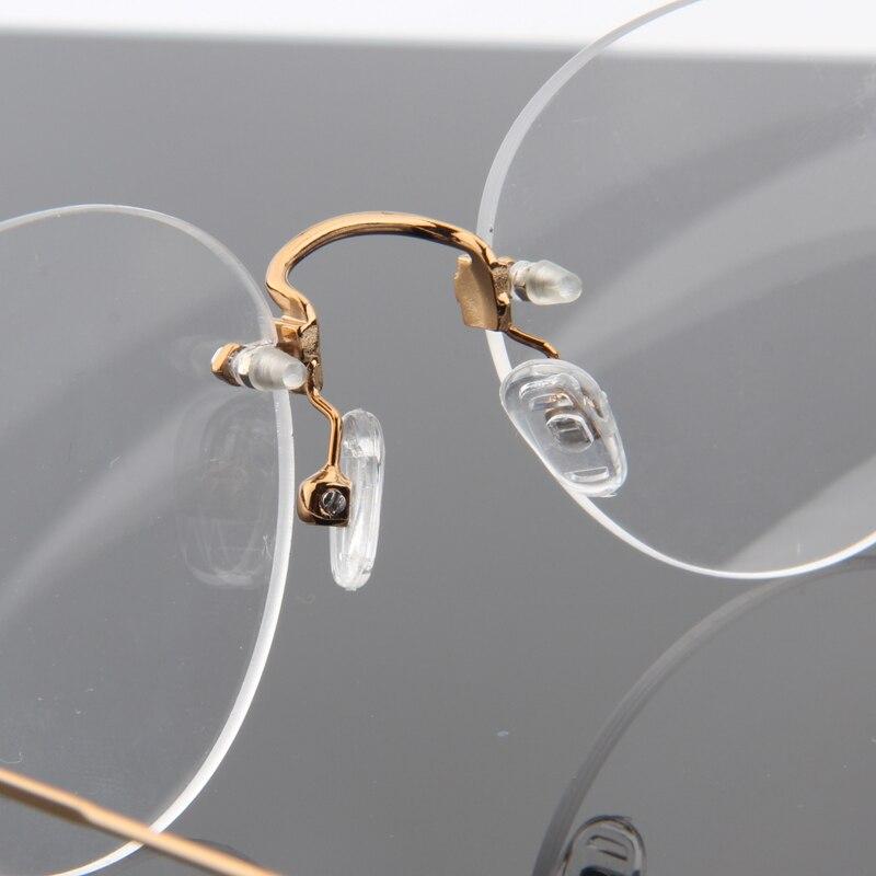3685dab764 Fashion No Screw Super Light Round Rimless Glasses Frame For Women .