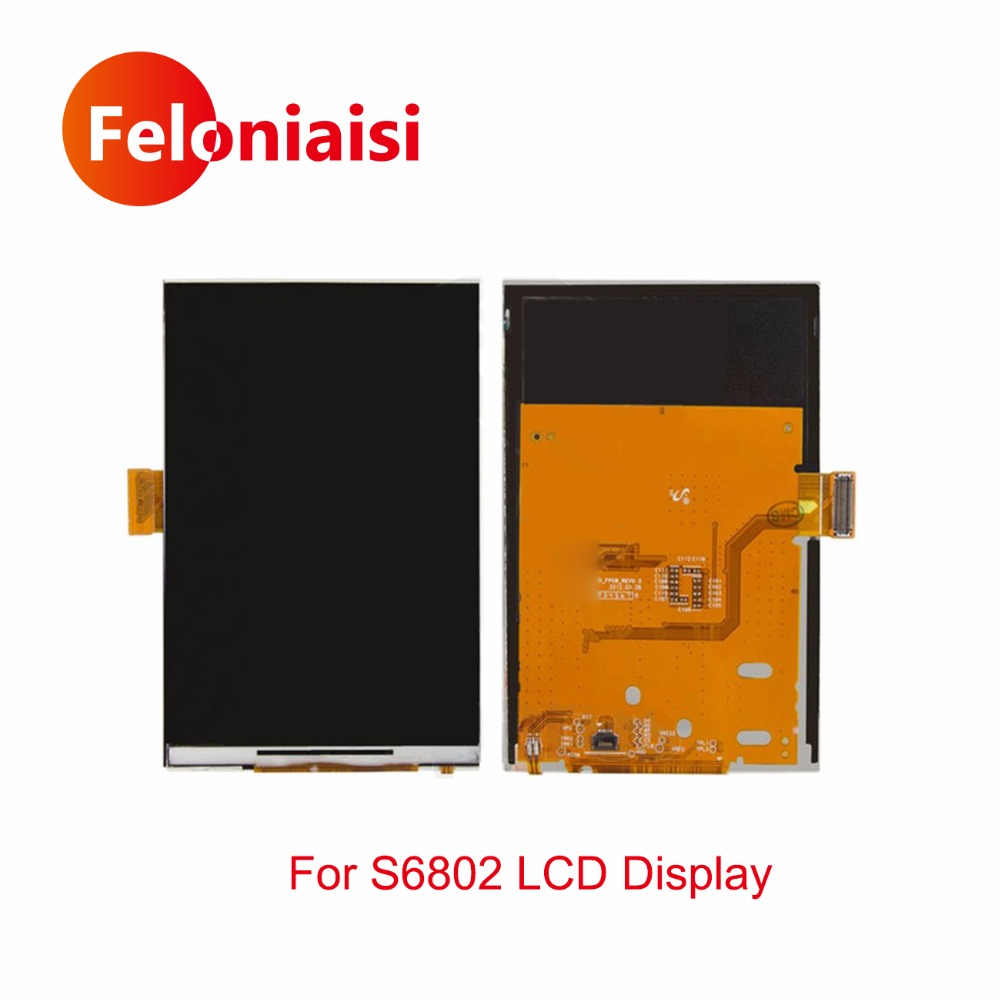 High Quality 3.5 For Samsung Ace Duos S6802 LCD Display With Touch Screen Digitizer Sensor Panel+Tracking Code