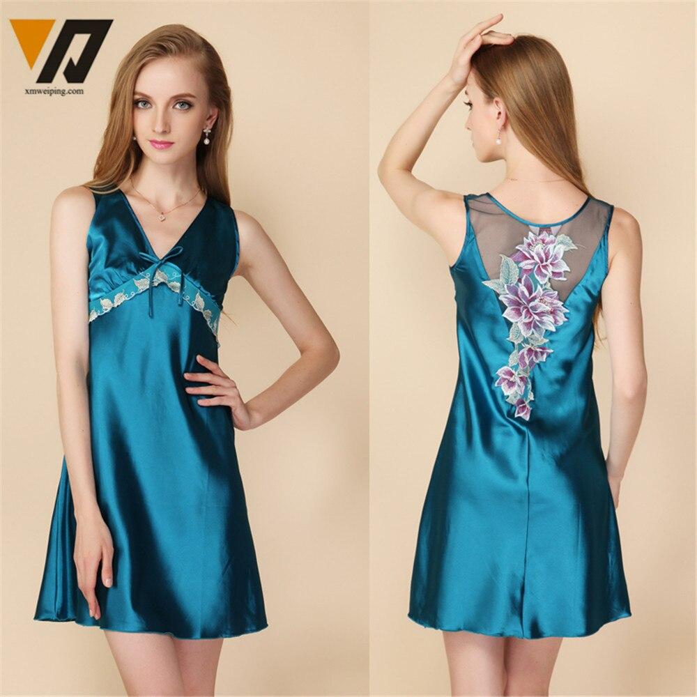 Vintage Dressing Gown: Aliexpress.com : Buy XMWEIPING Women Silk Satin Sleeveless