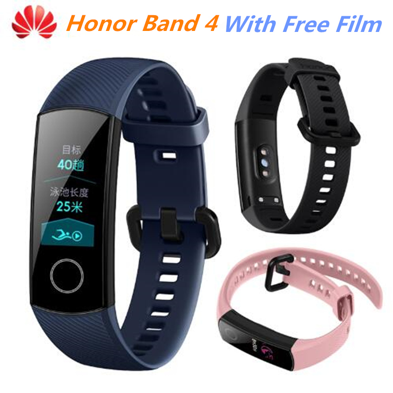 Free Film Original Huawei Honor Band 4 Smart Band Wristband Heart Rate Fitness Tracker 50M