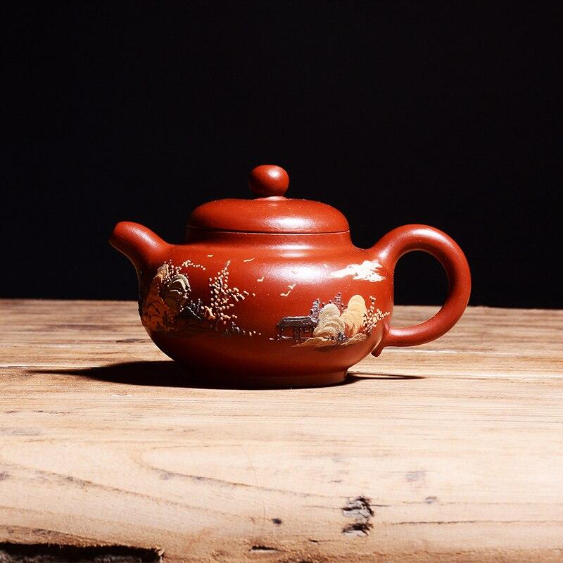 Yixing famous pure handmade purple clay teapot Kung Fu Zisha teapot dahongpao rhyme special price Free Shipping 220mlYixing famous pure handmade purple clay teapot Kung Fu Zisha teapot dahongpao rhyme special price Free Shipping 220ml