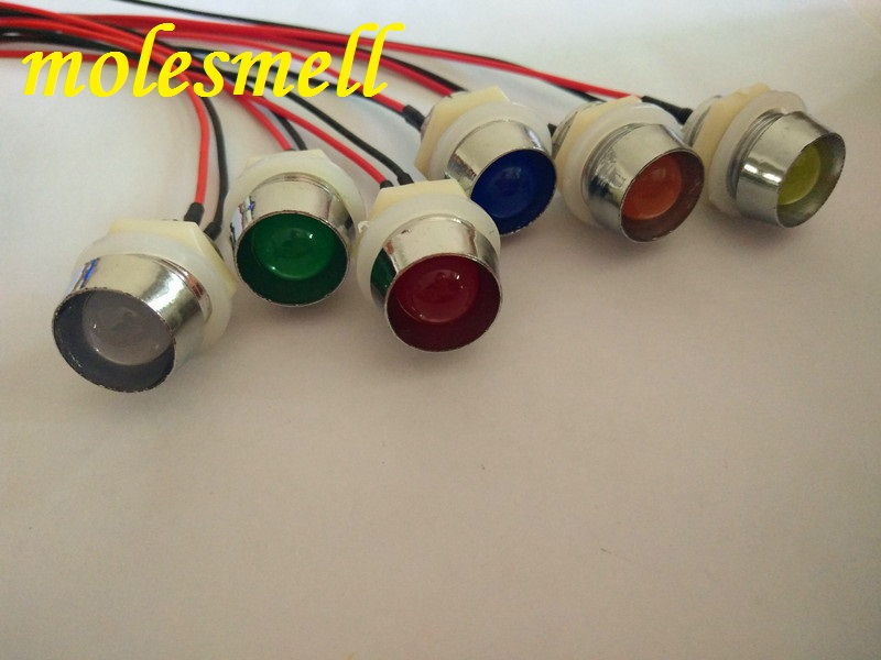 Red DC12V Diffused Lens uxcell 10Pcs 10mm Pre Wired LED Light Emitting Diodes