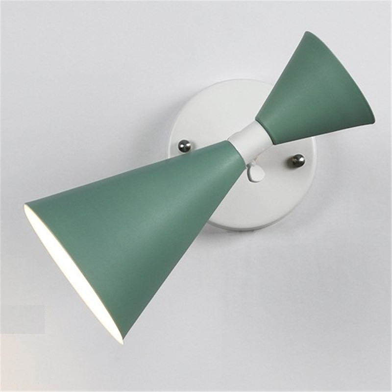 Creative Loft Style Iron Rotate Wall Sconce Modern LED Wall Light Fixtures Bedroom Bedside Wall Lamp Wood Home Indoor Lighting simple loft style iron adjust wall sconce modern led wall lamp home deco rotate bedside wall light fixtures indoor lighting
