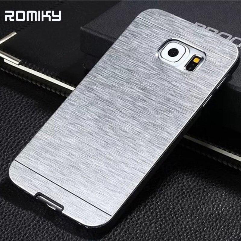 low priced ae4c1 e3d82 US $4.02  Romiky brushed metal j2 j5 j7 prime case hybrid aluminum plastic  case for samsung galaxy s8 plus s7edge s6 s6 edge note5 s6 edge-in ...