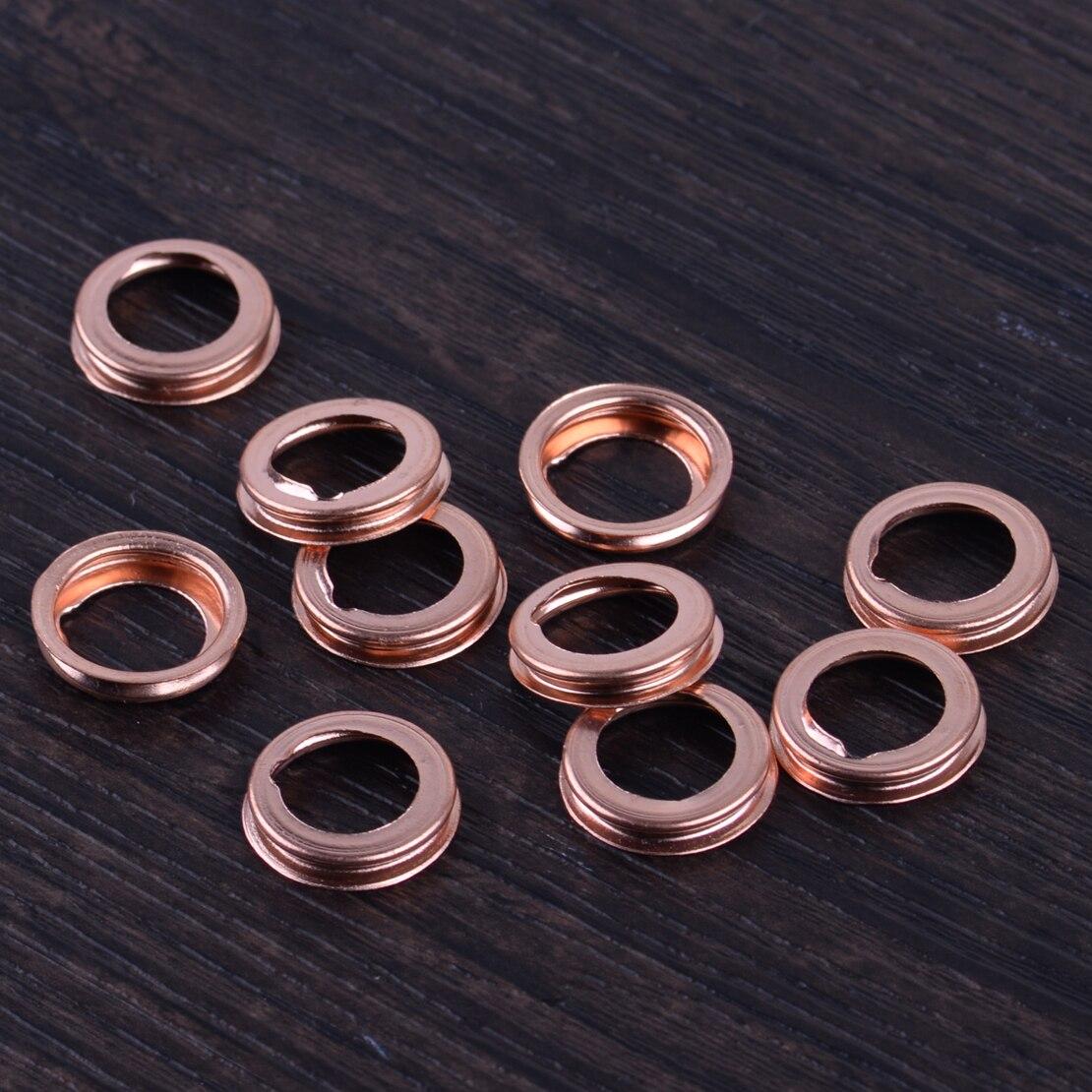 DWCX Car Copper 10PCS 11mm 0.43 Metal Oil Drain Plug Crush Washer Gasket 11026-01M02 fit for Nissan Altima 370Z Cube Frontier