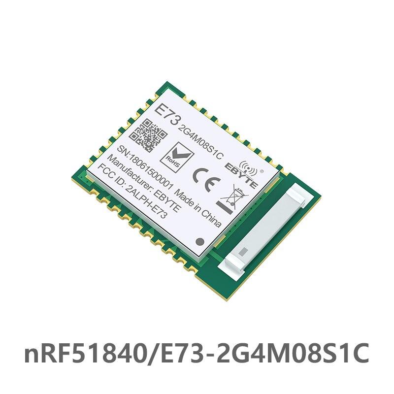 NRF52840 IC módulo RF 2,4 GHz 8 dBm E73-2G4M08S1C ebyte de largo alcance etyte Bluetooth 5,0 nrf52 nrf52840 transmisor y receptor