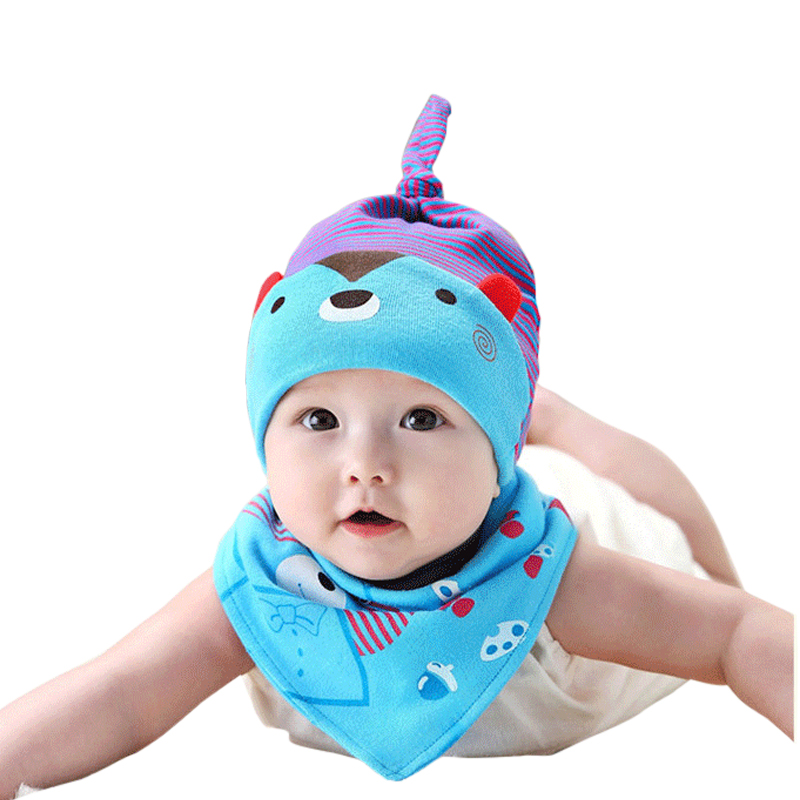 Mother Nest Style Baby Bibs and Baby Caps Sets Fashion Cotton One Size Unisex Bandana Bibs Burp Cloths For Children Self Feeding 2017new fashion unisex surgical caps 100