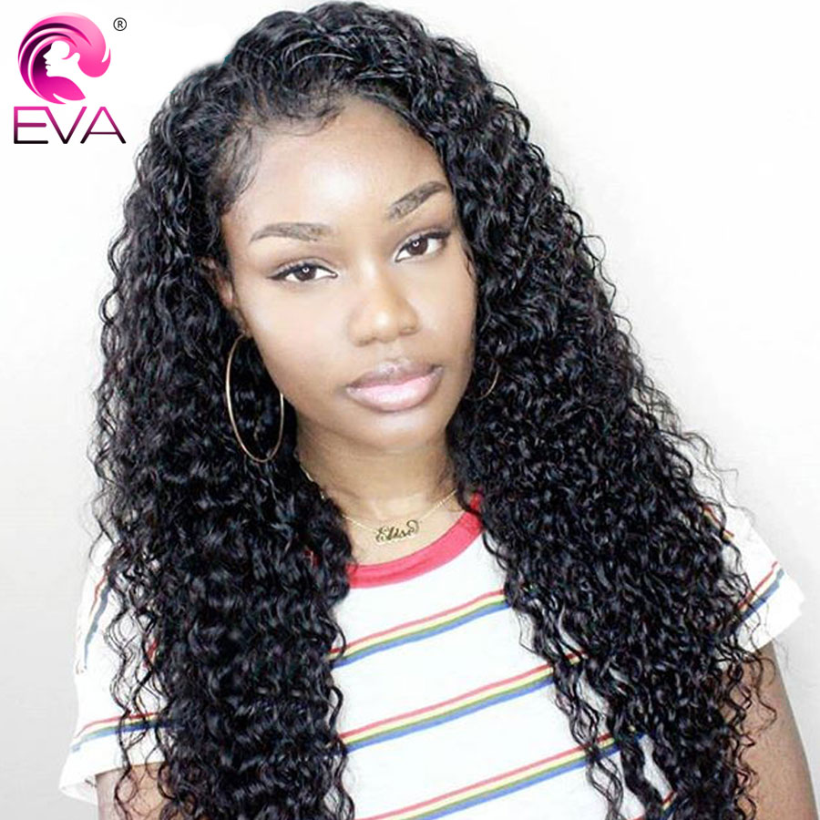 Eva Hair Full Lace Human Hair Wigs Pre Plucked With Baby Hair Brazilian Remy Hair Curly Lace Wigs For Black Women Bleached Knots