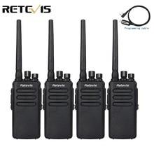 4 шт. 10 Вт DMR Радио Цифровой рация Retevis RT81 IP67 водонепроницаемый UHF зашифрованные двусторонней радиосвязи КВ трансивер