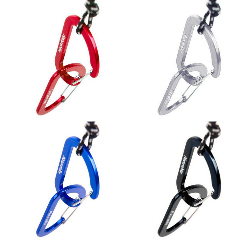 CN/_ 5Pcs Snap Key Chain Keychain Clip Carabiner Outdoor Buckle Split D-Ring Ho
