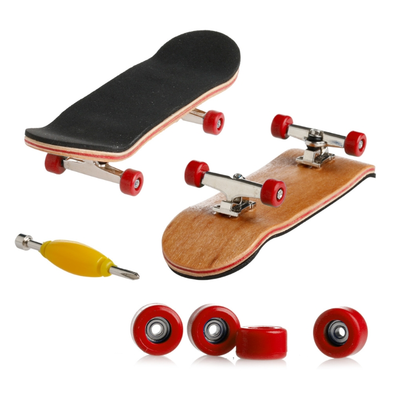 2019 NEW Wooden Deck Fingerboard Skateboard Sport Games Kids Gift Maple Wood Set New