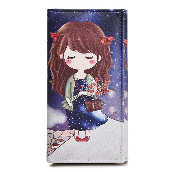Cute Girls Coin Purse Fashion Women Wallets Lady Purses Pocket Clutch Long Moneybags Handbags Cards ID Holder Female Wallet Bags marilyn monroe character women wallets lady purses handbags coin purse long clutch moneybags blue wallet cards holder burse bags