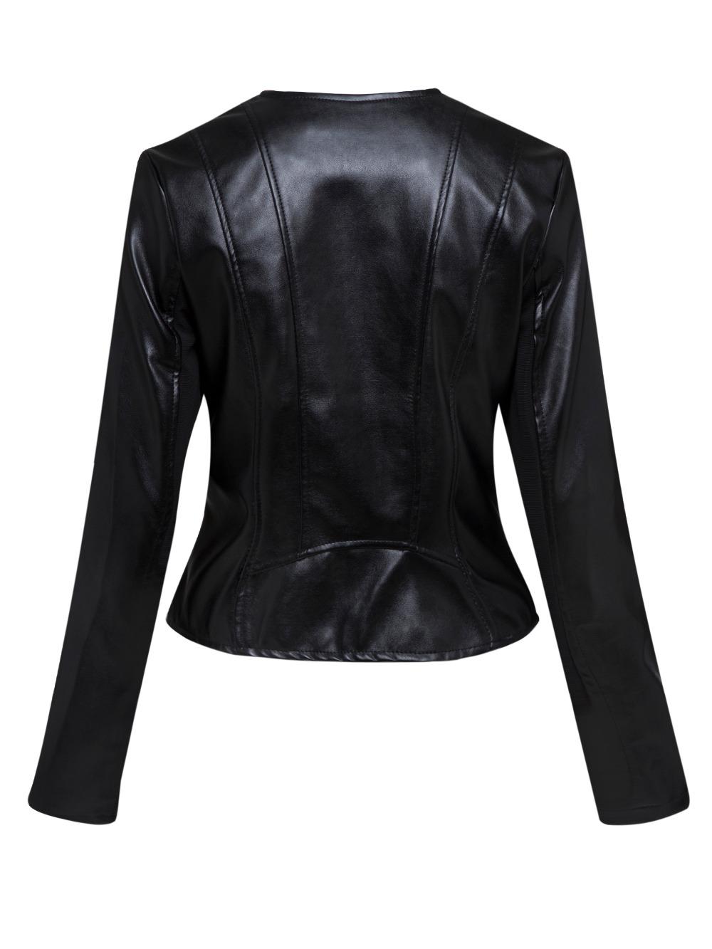 Kinikiss motocicleta PU chaqueta de cuero mujer invierno y otoño nueva moda  Color negro cremallera chaqueta nueva 2018 abrigo caliente. 1 2 3 4 5 6 7 8  ... 8d6e5b42a0ca