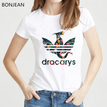 Harajuku shirt Dracarys vogue T Shirt women clothes 2019 Game Of Throne tshirt femme Mother Of Dragons Khaleesi female T-Shirt цена и фото