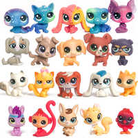 FGHGF LPS Pet shop Collection Figure Collie Dog Cat Bird Ribbat Animals Loose Cute Kid Toys Figure Gift 051701