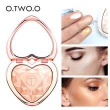 Новинка 2019, лидер продаж, палетка O.TW O.O в форме сердца, бронзер и хайлайтер, прессованная пудра, мерцающий макияж, 4 цвета на выбор, косметика