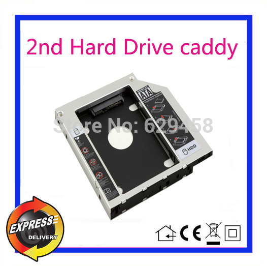2nd SATA HDD Hard Disk Drive caddy Adapter for HP Pavilion 14 15 17 replace GU70N dvd Free Shipping 146gb sas hdd for hp server hard disk 504062 b21 504334 001