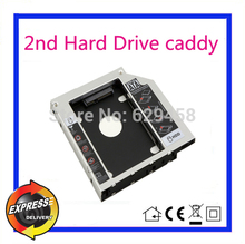 2nd SATA HDD Hard Disk Drive caddy Adapter for HP Pavilion 14 15 17 replace GU70N dvd Free Shipping