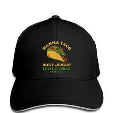 f4f88e22e36 Baseball cap 2018 Fashion men Hat wanna taco bout jesus Baseball cap funny  christian Baseball cap