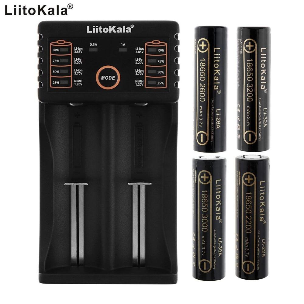 Liitokala Lii 202 2 Independent Slots USB Smart Charger 2pcs 18650 3 7V Li ion Rechargeable