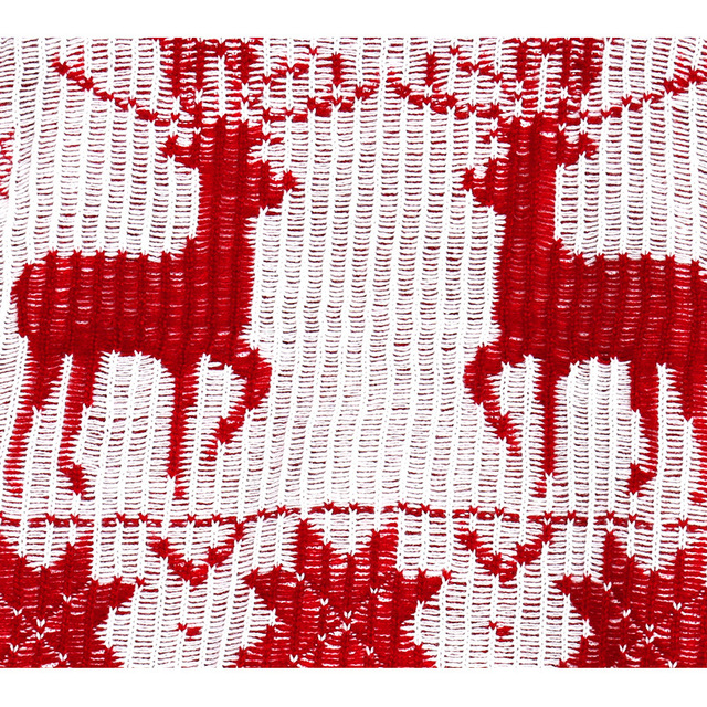 Women Reindeer Snowflakes Christmas Knitted Wool Long Sweater Autumn Winter O Neck Pullover Red Black Casual Loose Long Knitwear