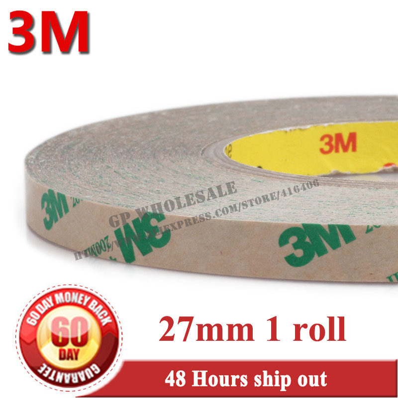 (27mm*55M*0.13mm) Strong Adhesion 3M 468 MP Clear 200MP Adhesive Double Side Adhesive Transfer Tape for Camera Notebook PC Phone 3m double side adhesive tape for auto 3000cm x 0 8cm
