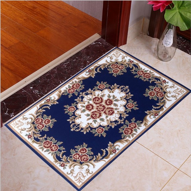 Retro Style Printing Bath Mat Anti-Slip Mat Bedroom Living Room Carpet Pattern Bathroom Mat Home Decoration Door Mat