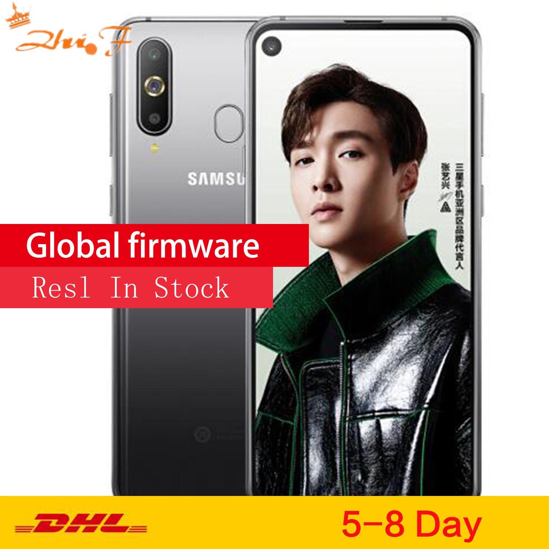 Samsung galaxy a8s g8870 smartphone três câmeras traseiras 3400 mah 6 gb 128 gb snapdragon 710 otca núcleo nfc android celular