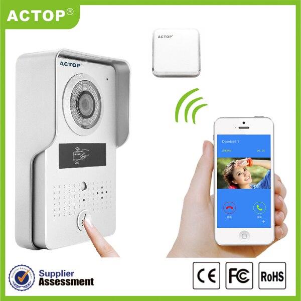 720P Wireless WIFI Video Intercom Doorbell With Indoorbell
