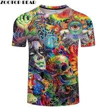 Bellezza   Skull 3D Stampa t-shirt Da Uomo Delle magliette Delle Donne di  Estate Divertente Manica Corta O-Collo Tops   Tees Str.. c91dad32e15c
