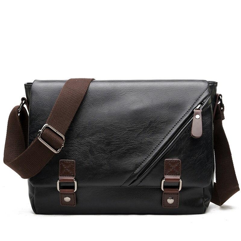 2017 Fashion Vintage Crossbody Bag Men Pu Leather Envelope Messenger Bag Man Motorcycle Shoulder Bags Travel Ipad Briefcase