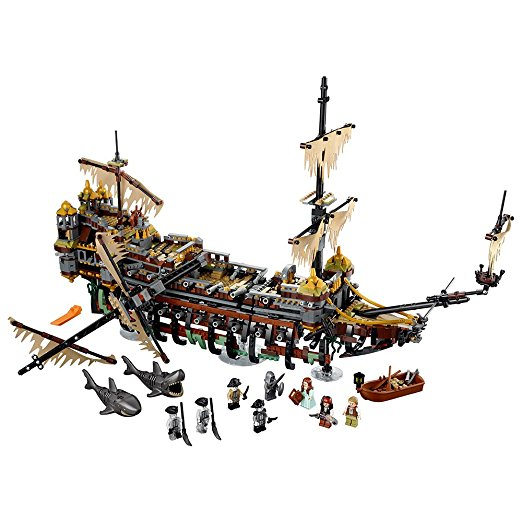 Lepin 16042 2344PCS Pirate of The CaribbeanThe Slient Mary Set Children Educational Building Blocks Bricks Toys Model Gift 71042 lepin 22001 movie the pirate ship caribbean warships set diy model building blocks bricks children educational toys gift 10210