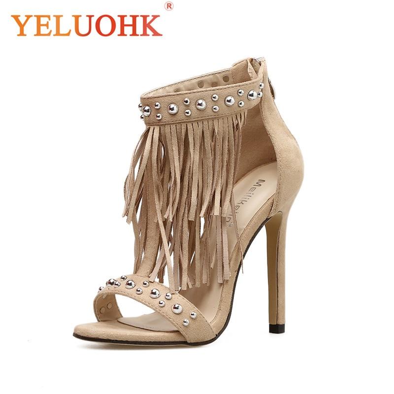 Rivet Extreme High Heel Sandals Women Sexy Summer Shoes Fashion 2018 Women Sandals 10.5 CM