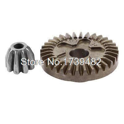 2 Pcs Metal Spiral Bevel Gears for Bosch GWS 6-100 Angle Grinder smt bevel angle glue metal squeegee blades 30 6mm