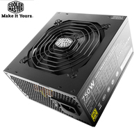 Cooler Master Full Module Computer Power Supply Rated 750W 750Watt 12cm quiet Fan 12V ATX PC PSU GOLD 80PLUS For Game Office