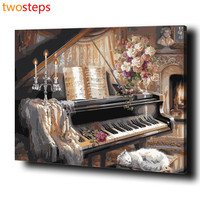 Frameless DIY Digital Canvas Oil Painting By Numbers Pictures Coloring By Numbers Linen Large Acrylic Paint