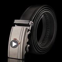 YOJBO Luxury Leather Men Belt Coffee Belt