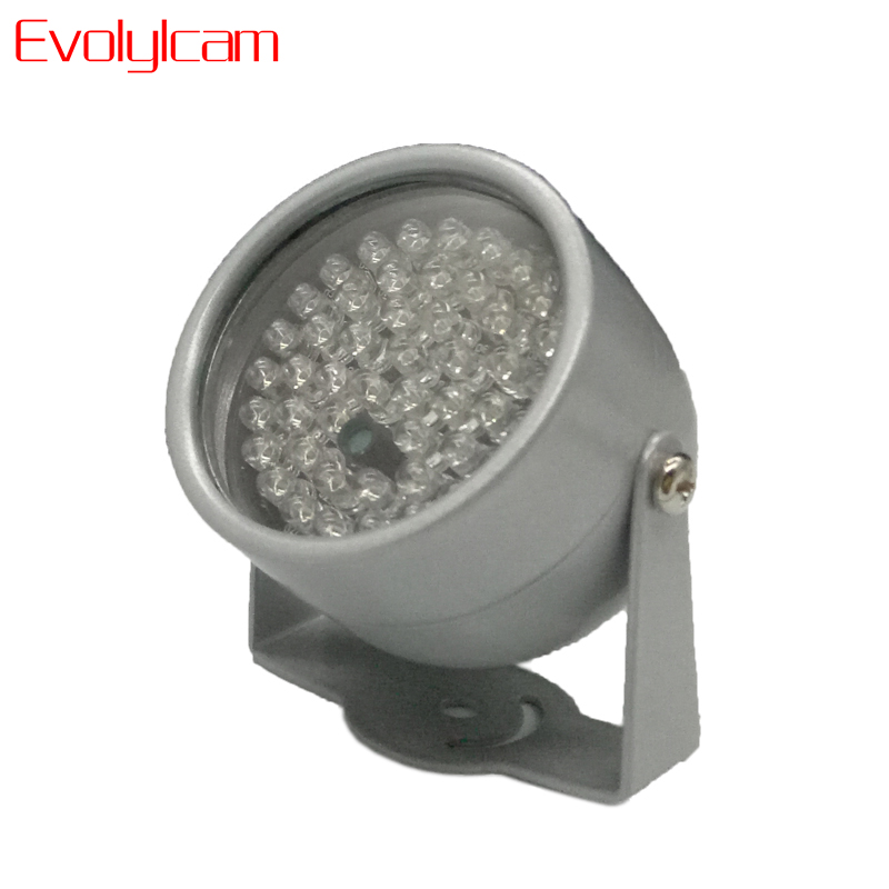 Evolylcam 850nm 48 IR LED Infrared Illuminator Light IR Night Vision untuk Kamera Keamanan CCTV Isi Pencahayaan logam Dome abu-abu
