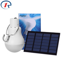 ZjRight 15W 130LM Solar Lamp Powered Portable Led Bulb Light Solar Lamp Led Lighting Solar