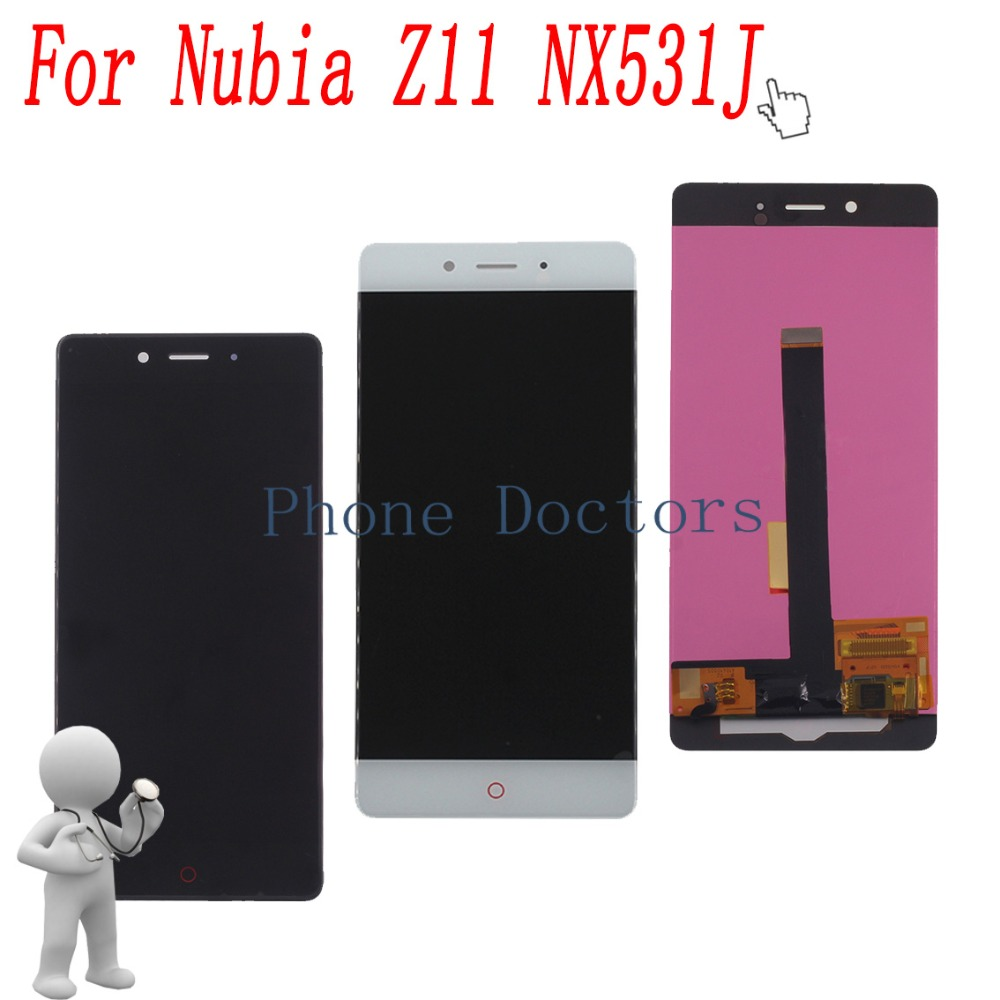 5.5'' Full LCD DIsplay + Touch Screen Digitizer Assembly For ZTE Nubia Z11 NX531J ; Black / White ; New ; 100% Tested