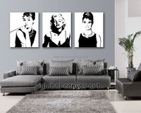 Framed 3 Panel Modern Home Decoration Wall Art Picture Poster Sexy Marilyn Monroe Canvas Print Oil