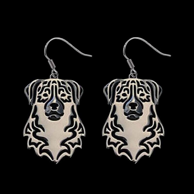 Women's Alloy Animal Earrings Jewelry Australian Shepherd Dog Earrings